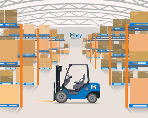 Masy biostorage and warehouse mapping