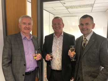 Gerry from Scottish Enterprise, Archie Lovatt and Gary Chambers