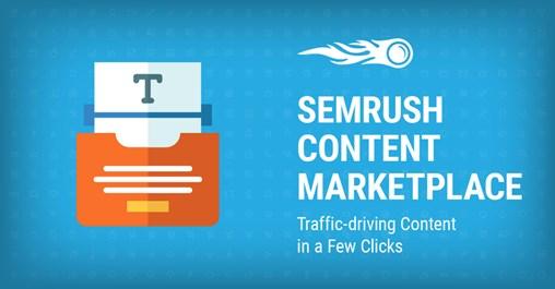 SEMrush Content Marketplace banner