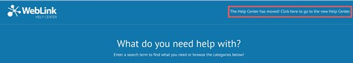 WL Help Center Screenshot