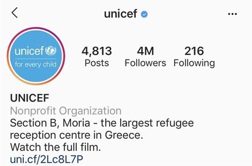 unicef link in bio instagram