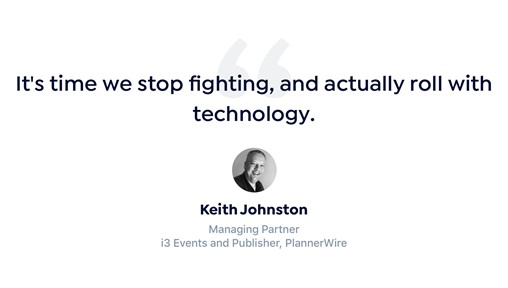 Keith Johnston of PlannerWire talks about event tech stacks