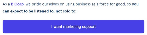 CTA email call to action - I want marketing support