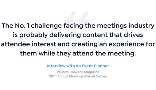 Quote about content driving attendee engagement
