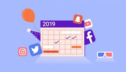 social media events calendar 2019
