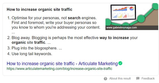 writing for featured snippets
